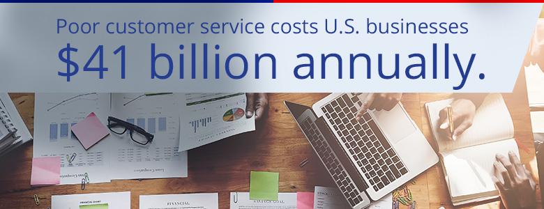 poor customer service costs US businesses $41 billion annually
