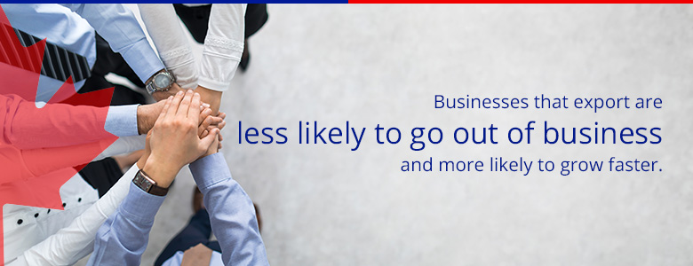 businesses that export are less likely to go out of business and more likely to grow faster
