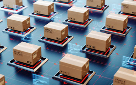 boxes with high-tech products prepared for shipment