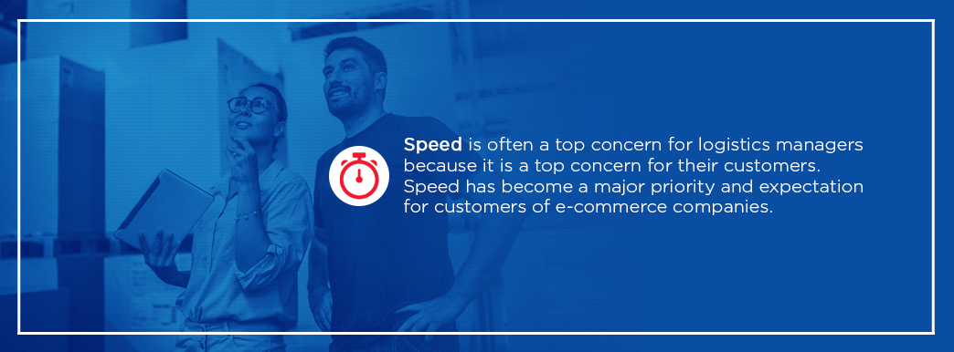Speed has become a major priority and expectation for customers of e-commerce companies