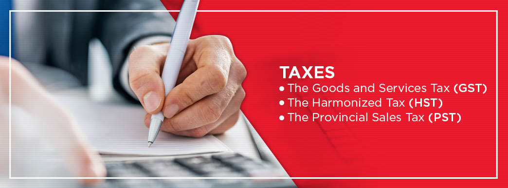 Goods and Services Tax, Harmonized Tax, Provincial Sales Tax