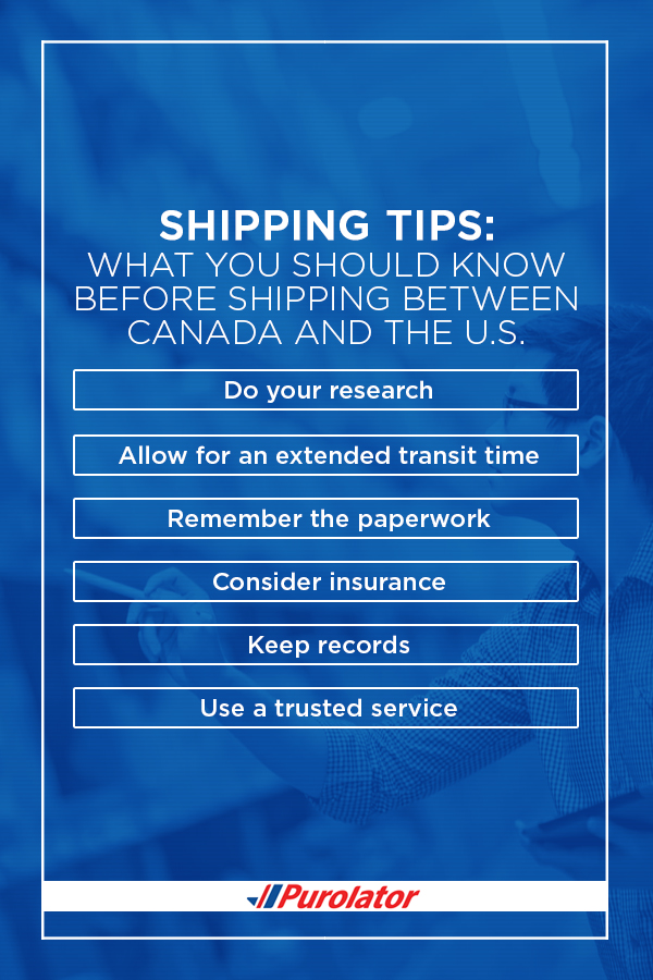 What you should know before shipping between Canada and the US