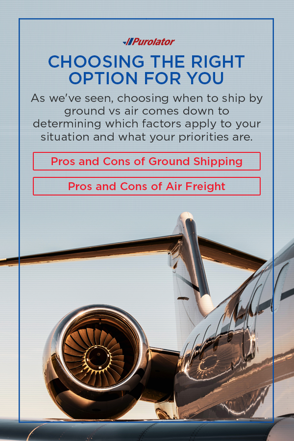 Pros and cons of ground shipping and pros and cons of air freight