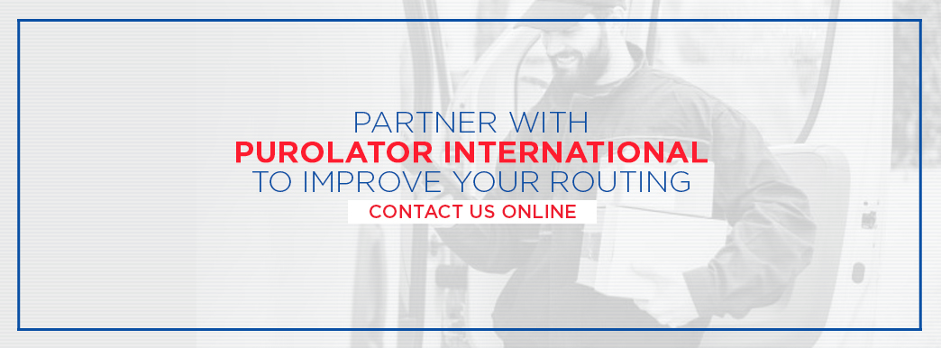 Partner with Purolator International to improve routing