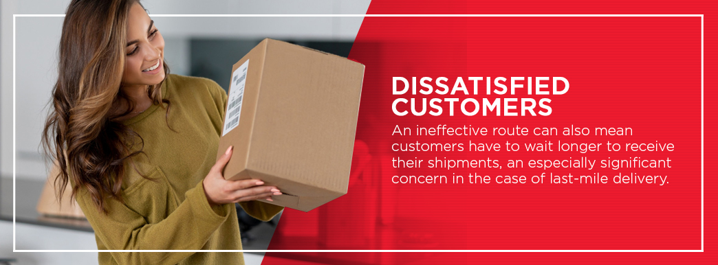 Ineffective routing could cause delayed shipments and unhappy customers
