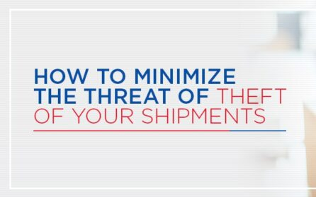 How to minimize threat of theft on shipments