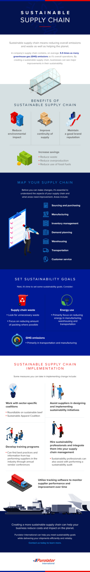 Sustainable supply chain infographic