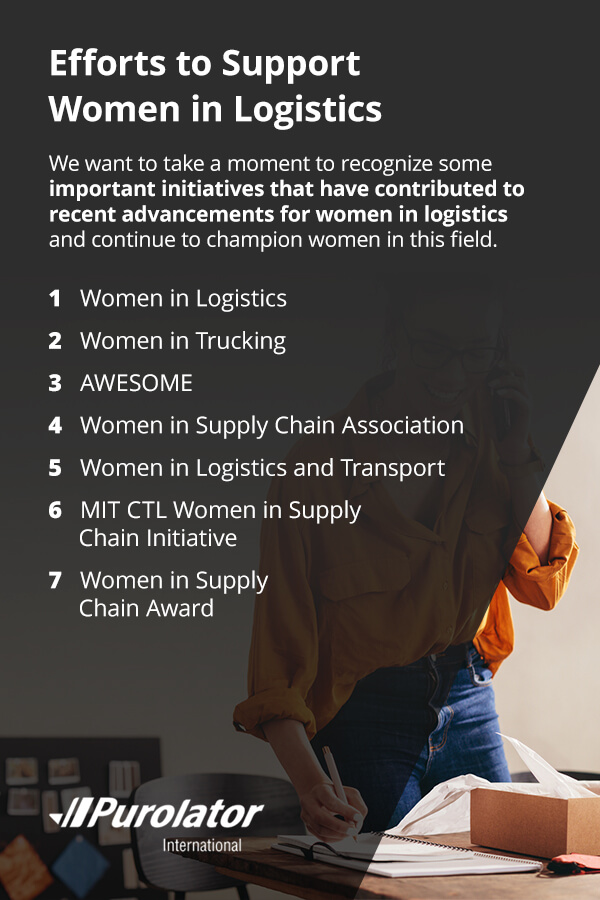 Efforts to support women in logistics