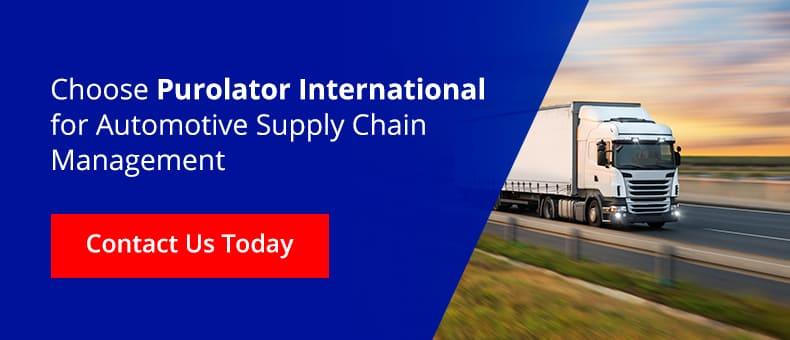Choose Purolator International for automotive supply chain management