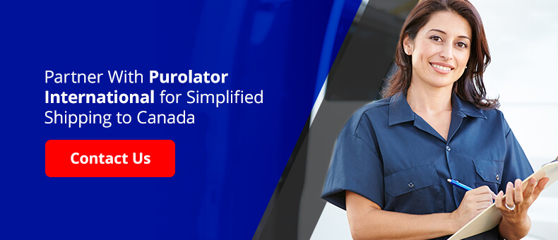 Partner with Purolator International for simplified shipping to Canada