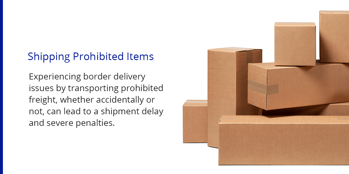 Shipping Prohibited Items